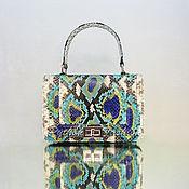Сумки и аксессуары handmade. Livemaster - original item Handbag made from Python PARISIENNE. Handmade.