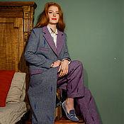 Одежда ручной работы. Ярмарка Мастеров - ручная работа Шерстяное пальто с вышивкой. Handmade.