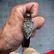 handmade. Livemaster - original item Leather bracelet with the Sun, a bracelet with the Sun. Handmade.