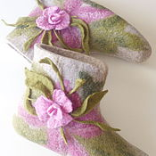 Slippers handmade. Livemaster - original item Women`s boots made of natural wool bergshav. Handmade.