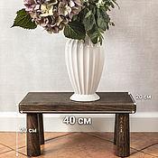 Для дома и интерьера handmade. Livemaster - original item Stand on legs made of dark ash. Handmade.