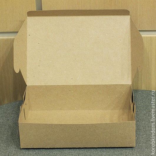 Упаковка ручной работы. Ярмарка Мастеров - ручная работа. Купить Коробка 22х15х6 см крафт. Handmade. Коробочка, коробка для рукоделия