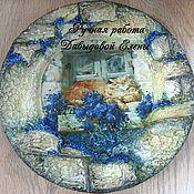 """Посуда ручной работы. Ярмарка Мастеров - ручная работа Сувенирная тарелка """"Рыжий"""". Handmade."""