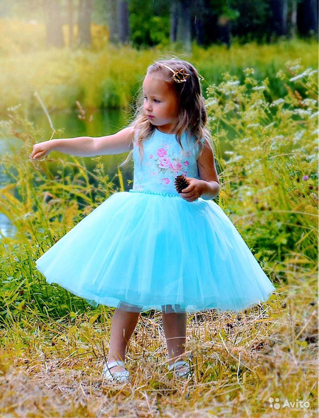 Платье на девочку 'нежно-голубое', Платья, Санкт-Петербург,  Фото №1
