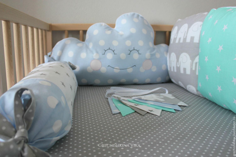Как сделать бортики в кроватку из подушек