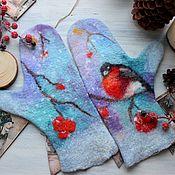 handmade. Livemaster - original item Felted mittens Christmas gift. Handmade.