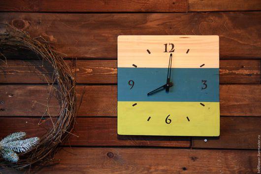 Часы для дома ручной работы. Ярмарка Мастеров - ручная работа. Купить Часы деревянные. Handmade. Комбинированный, деревянные часы, дерево