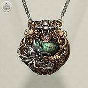 Pendants handmade. Livemaster - original item Talisman pendant Labrador Spider on a stone rare handmade. Handmade.