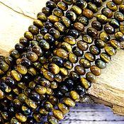 Материалы для творчества handmade. Livemaster - original item Tiger`s eye rondelle, natural stones. Handmade.