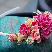 Обручи ручной работы. Ярмарка Мастеров - ручная работа Ободок ручной работы из фоамирана. Handmade.