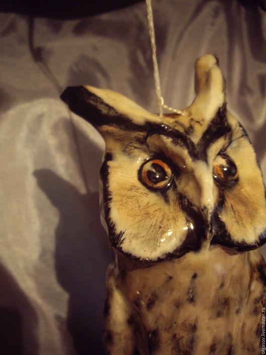 """Колокольчики ручной работы. Ярмарка Мастеров - ручная работа. Купить колокольчик """"Ушастая сова"""". Handmade. Серый, авторская ручная работа"""