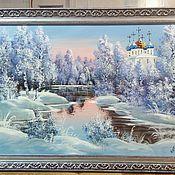 Картины и панно ручной работы. Ярмарка Мастеров - ручная работа Картина маслом Пейзаж, в рамке 70х50 см. Handmade.