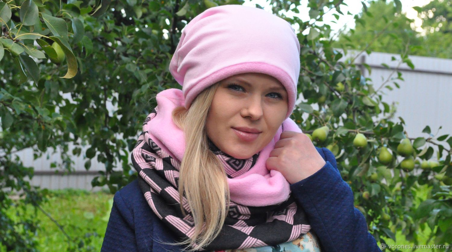 Set cap beanie and Snood in two turns, Accessories kits, Moscow, Фото №1