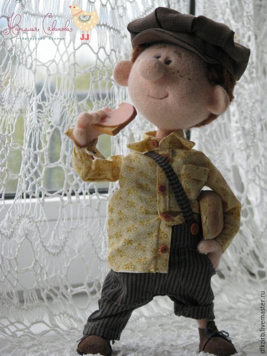Коллекционные куклы ручной работы. Ярмарка Мастеров - ручная работа. Купить Колбаска.... Handmade. Разноцветный, авторская кукла, ретро