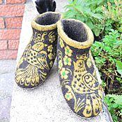 """Обувь ручной работы. Ярмарка Мастеров - ручная работа Войлочные домашние валенки  """"Хохлома """". Handmade."""