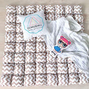 Текстиль ручной работы. Ярмарка Мастеров - ручная работа Коврик (одеяло) бомбон. Handmade.