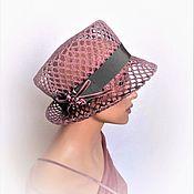 Аксессуары handmade. Livemaster - original item Garden rose hat. Handmade.