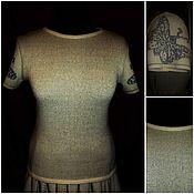 Одежда ручной работы. Ярмарка Мастеров - ручная работа 100% лён  Джемпер Алёнка. Handmade.