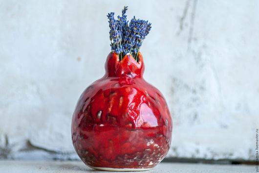 """Вазы ручной работы. Ярмарка Мастеров - ручная работа. Купить Керамическая ваза """"Гранатовое настроение"""". Handmade. Керамика, красный, глазурь"""