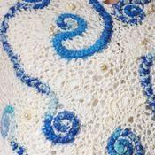 """Одежда ручной работы. Ярмарка Мастеров - ручная работа Жилет теплый вязаный ручной работы """"Морская пена"""". Handmade."""