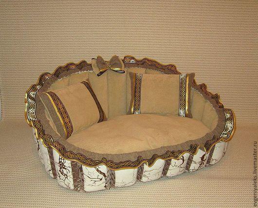 Аксессуары для собак, ручной работы. Ярмарка Мастеров - ручная работа. Купить диванчик №228. Handmade. Лежанка для кошки, диванчик, холлофайбер