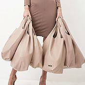 Сумки и аксессуары handmade. Livemaster - original item String Bag Pink Bag Bag Large Leather Bag Shopper T-shirt Bag. Handmade.