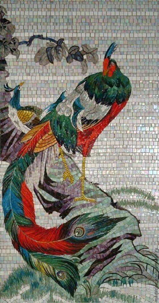 Животные ручной работы. Ярмарка Мастеров - ручная работа. Купить фазан. Handmade. Комбинированный, картина, подарок, интерьер, мозаика, смальта