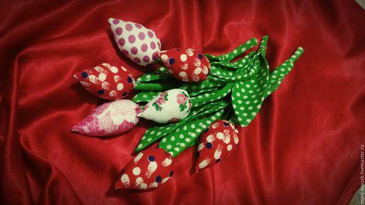 Персональные подарки ручной работы. Ярмарка Мастеров - ручная работа. Купить Текстильные тюльпаны. Handmade. Тюльпан, тильда, практичный подарок