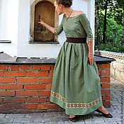 """Одежда ручной работы. Ярмарка Мастеров - ручная работа Длинное зеленое платье в пол """"Дороте"""". Handmade."""