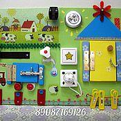 """Куклы и игрушки ручной работы. Ярмарка Мастеров - ручная работа Бизиборд """"В деревне у бабушки"""". Handmade."""