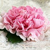 Украшения handmade. Livemaster - original item Flower brooch peony pink.Brooch Royal Peony.Polymer clay.. Handmade.