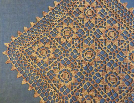 Текстиль, ковры ручной работы. Ярмарка Мастеров - ручная работа. Купить Осенняя мозаика. Handmade. Рыжий, вязание на заказ, хлопок