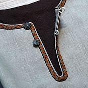 Рубашки ручной работы. Ярмарка Мастеров - ручная работа Рубаха мужская льняная вседневная древнего кроя с тканой тесьмой. Handmade.