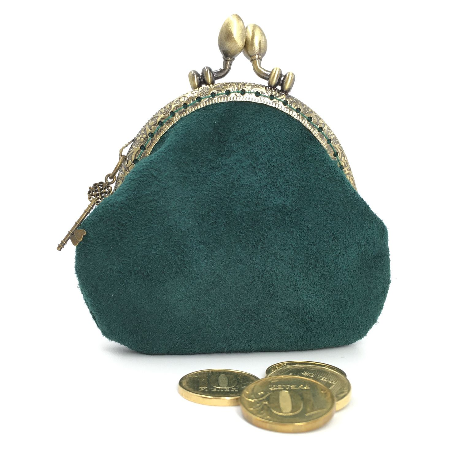 In stock! Wallet-coin suede Moray on the clasp, Coin boxes, Moscow,  Фото №1