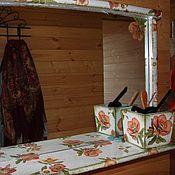 Для дома и интерьера ручной работы. Ярмарка Мастеров - ручная работа Зеркало декорированное. Handmade.