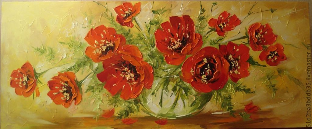 'Poppies' oil painting, Pictures, Chelyabinsk,  Фото №1