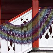 Аксессуары ручной работы. Ярмарка Мастеров - ручная работа Шаль Цветущая лаванда. Handmade.