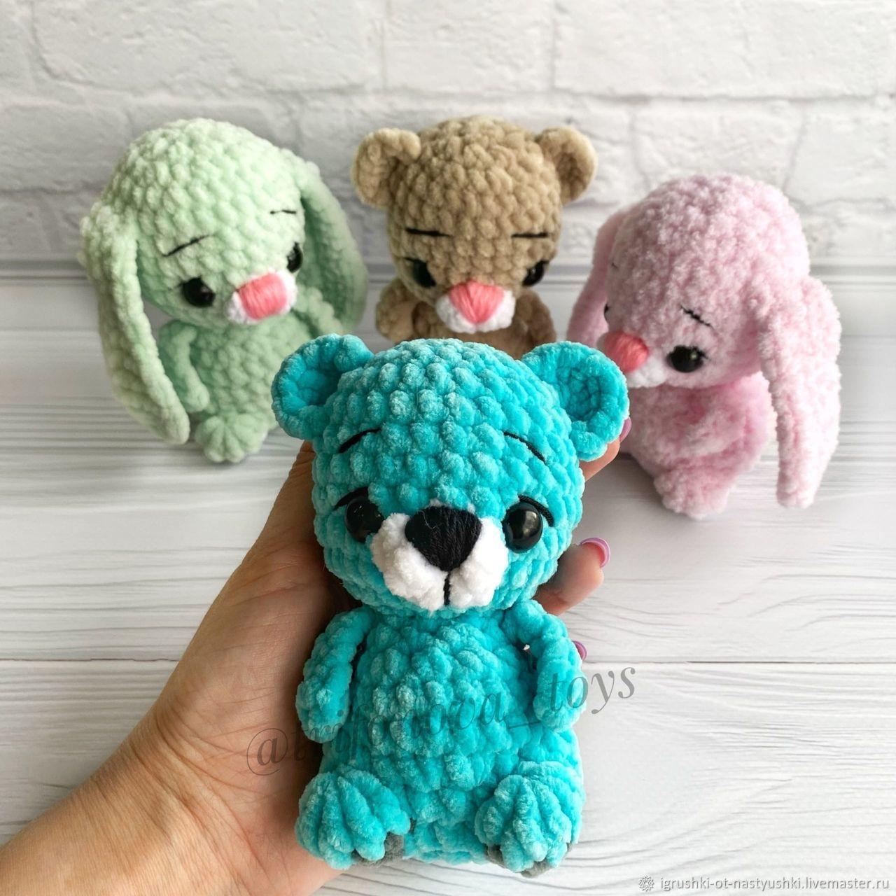 Мягкие игрушки-малышки: медвежата и зайчата, Мягкие игрушки, Самара,  Фото №1