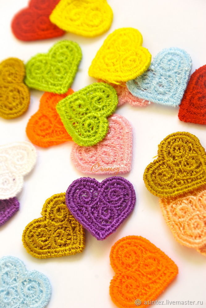 Embroidery applique Heart pattern openwork lace FSL free, Applications, Moscow,  Фото №1