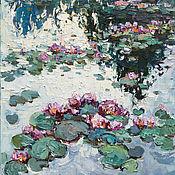 Картины и панно handmade. Livemaster - original item Water lilies - Original Oil painting. Handmade.