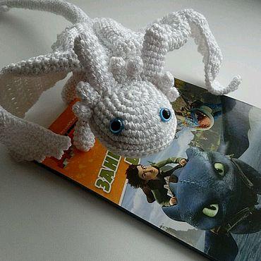 Куклы и игрушки ручной работы. Ярмарка Мастеров - ручная работа Ночная фурия-беззубик-девочка дракон. Handmade.