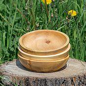 Для дома и интерьера ручной работы. Ярмарка Мастеров - ручная работа Кедровая посуда Тарелки набор 3 шт. Для пищевых продуктов и пр TN5. Handmade.