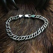 Украшения handmade. Livemaster - original item Silver bracelet with inserts. Handmade.