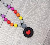 Работы для детей, ручной работы. Ярмарка Мастеров - ручная работа Силиконовые слингобусы с подвеской сердечком. Handmade.