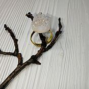 Кольца ручной работы. Ярмарка Мастеров - ручная работа Кольцо с друзой агата. Handmade.