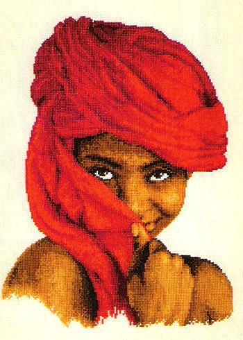 Люди, ручной работы. Ярмарка Мастеров - ручная работа. Купить Африканская девушка.. Handmade. Лён, мулине