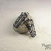 Украшения ручной работы. Ярмарка Мастеров - ручная работа серебряные серьги. Handmade.