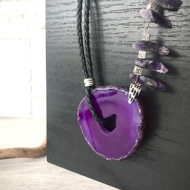 Украшения ручной работы. Ярмарка Мастеров - ручная работа Колье Violet. Handmade.