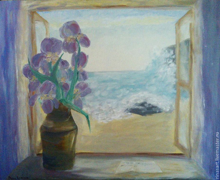 Irises (oil on canvas, 50h60 cm), Pictures, Ryazan,  Фото №1