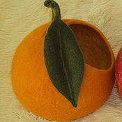 """Для дома и интерьера ручной работы. Ярмарка Мастеров - ручная работа Ваза интерьерная """"Апельсин"""". Handmade."""